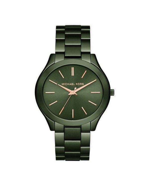 Часы Michael Kors Slim Runway Olive-Tone Watch MK3731