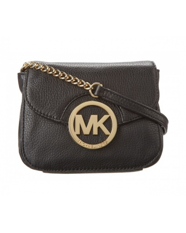 Сумка MICHAEL Michael Kors Small Fulton Crossbody Black Gold