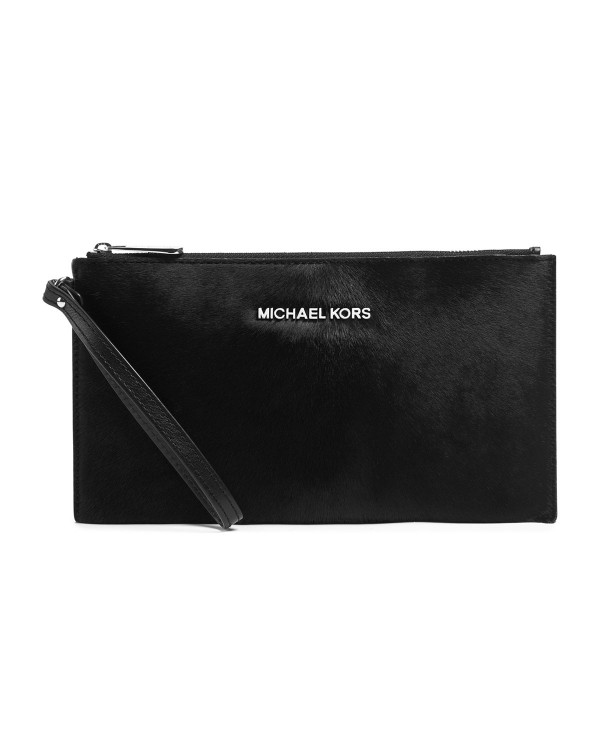 Косметичка MICHAEL Michael Kors Jet Set Travel Calf-Hair Pouch Black