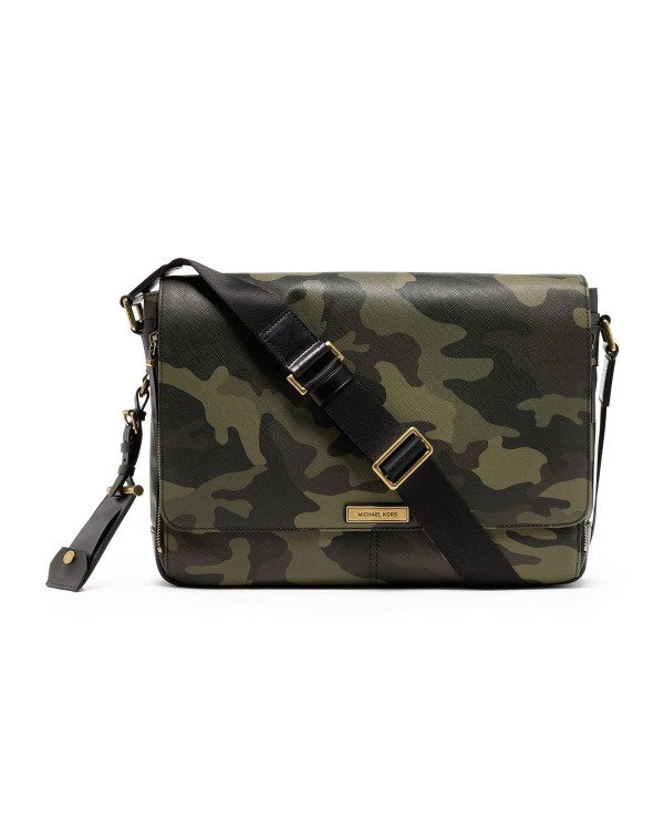 Мужская сумка Michael Kors Men's Large Jet Set Messenger Camo-print