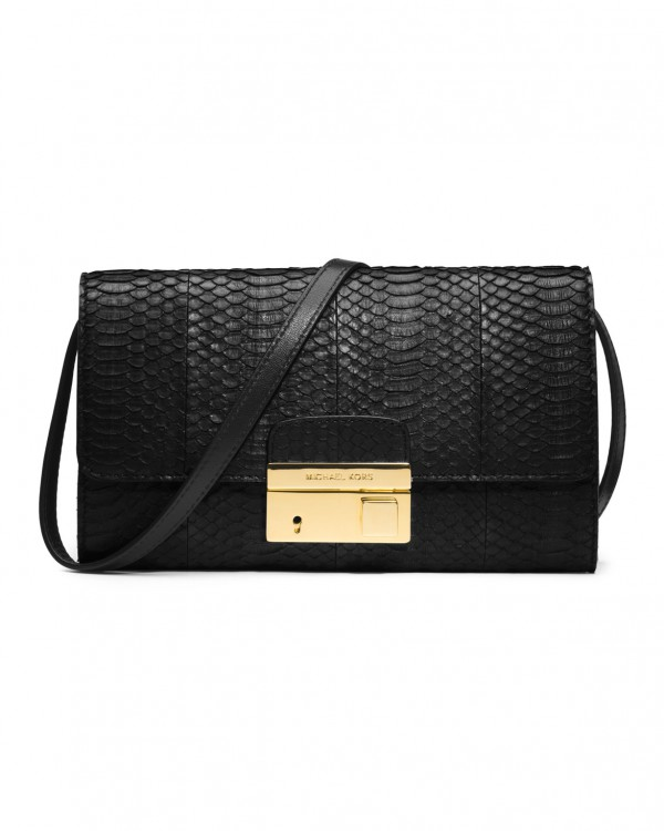 Сумка Michael Kors Gia Clutch with Lock Black