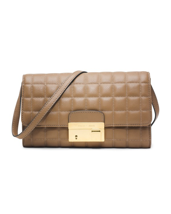 Клатч Michael Kors Gia Quilted Clutch Desert