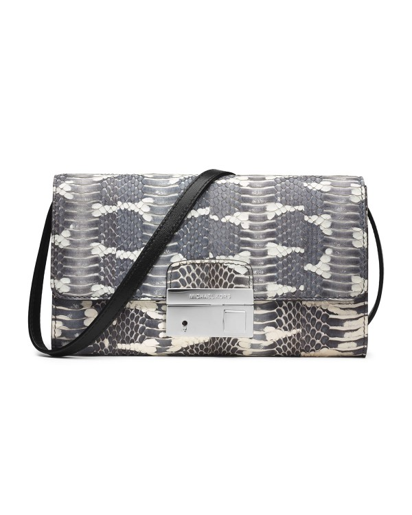 Клатч Michael Kors Gia Clutch with Lock Natural Snakeskin