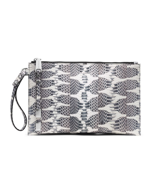 Клатч Michael Kors Large Harlow Zip Clutch Natural Snakeskin