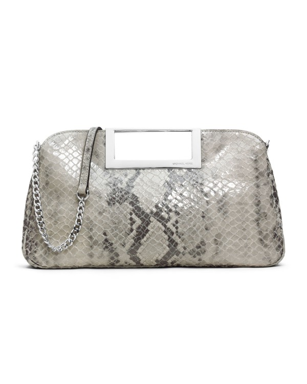 Клатч MICHAEL Michael Kors Large Berkley Clutch Pearl Gray