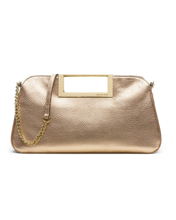 Клатч MICHAEL Michael Kors Large Berkley Clutch Pale Gold