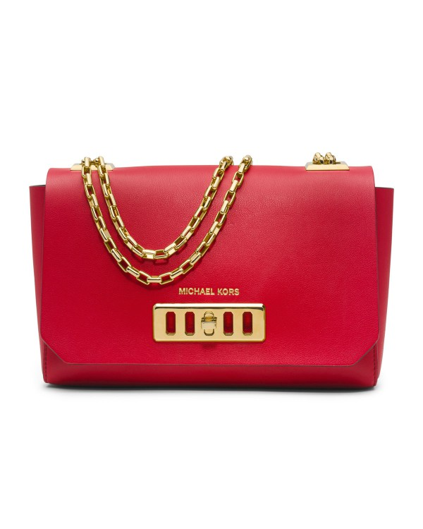 Сумка Michael Kors Vivian Shoulder Flap Bag Scarlet