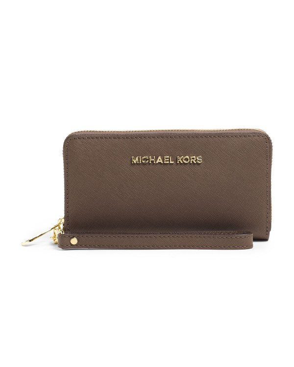 Кошелек MICHAEL Michael Kors Large Jet Set Multifunction Phone Case Dark Dune