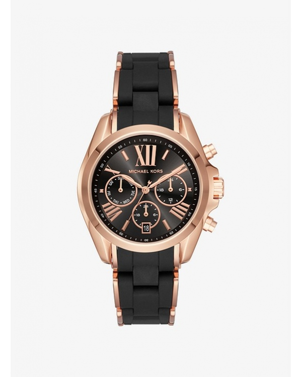 Часы Michael Kors Bradshaw Rose Gold-Tone and Silicone Watch MK6580