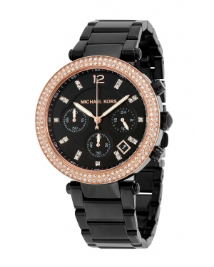 Часы Michael Kors Parker Black Ion-Plated Stainless Steel Watch MK5885