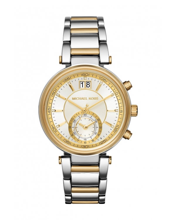 Часы Michael Kors Sawyer Rose Two-Tone Watch MK6225
