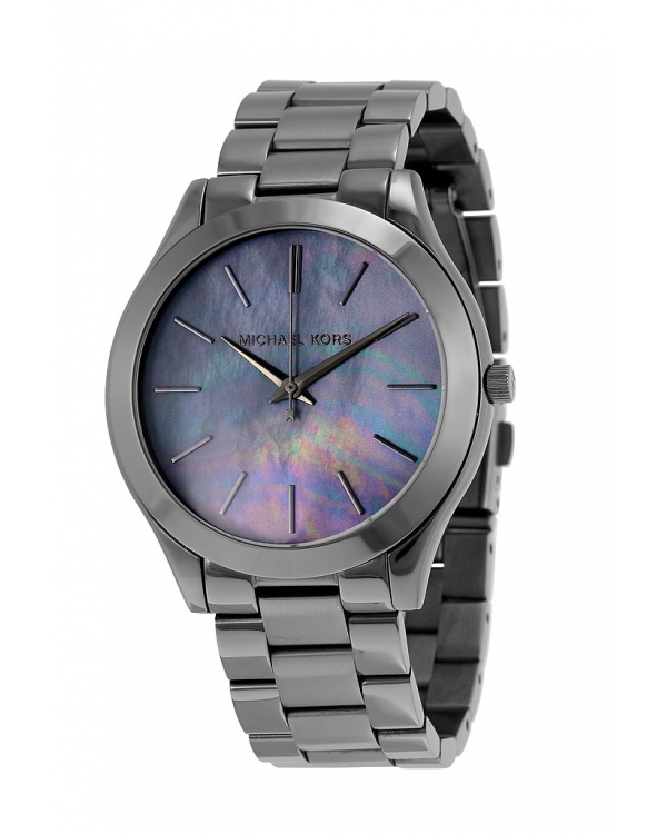 Часы Michael Kors Slim Runway Grey Dial Gunmetal-plated Watch MK3413