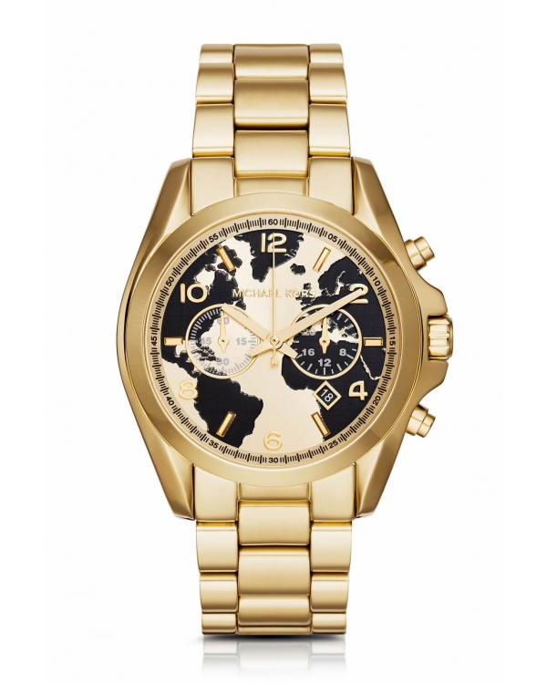Часы Michael Kors Watch Hunger Stop Oversized Bradshaw 100 Gold-Tone Watch MK6272