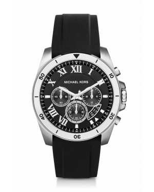 Часы Michael Kors Brecken Silver-Tone and Silicone Watch MK8435