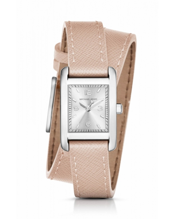 Часы Michael Kors Taylor Silver-Tone and Leather Wrap Watch MK2440