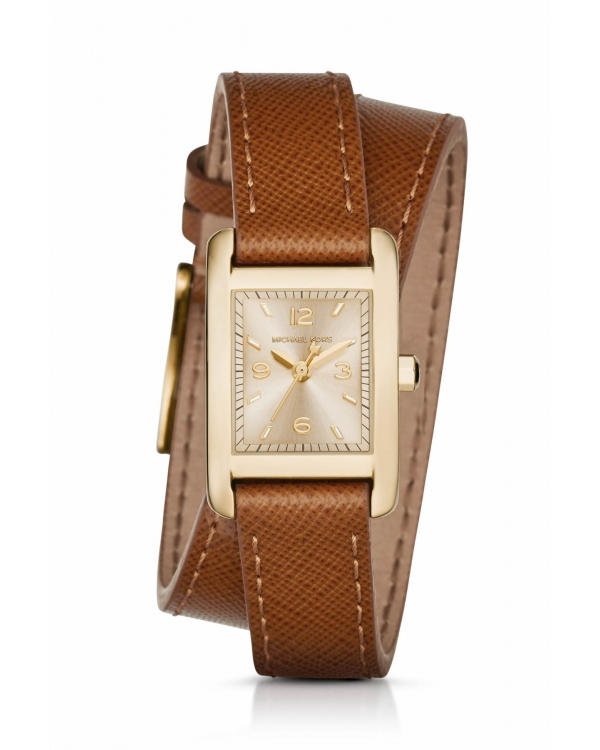Часы Michael Kors Taylor Gold-Tone and Leather Wrap Watch MK2441