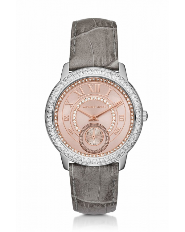 Часы Michael Kors Madelyn Pave Two-Tone and Leather Watch MK2446