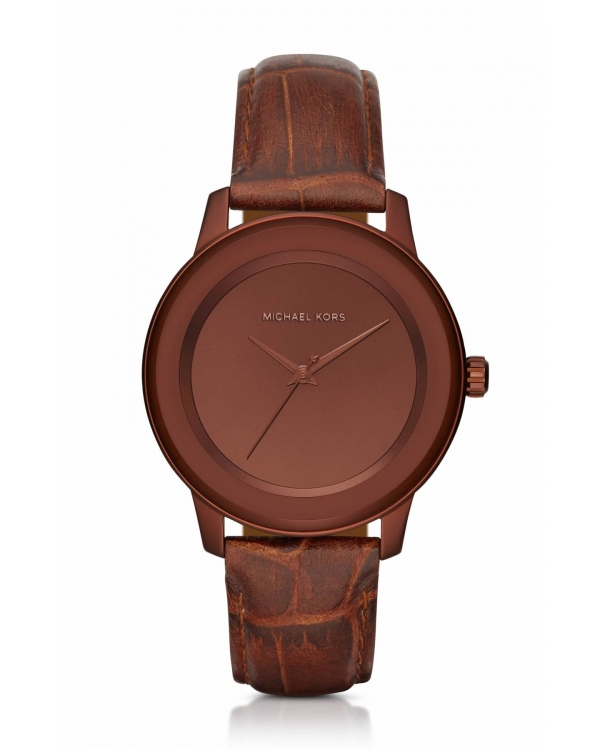 Часы Michael Kors Kinley Pave Copper-Tone And Leather Watch MK2457