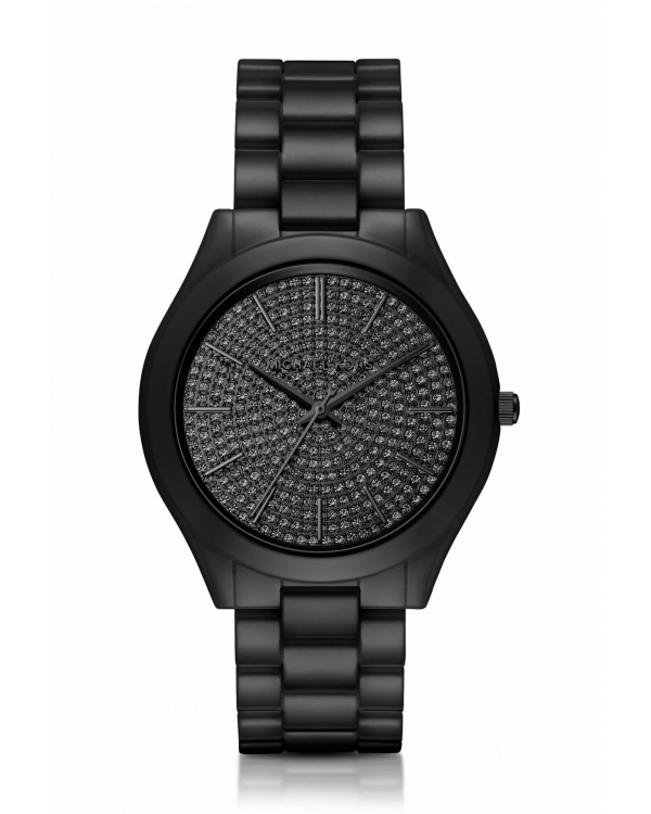 Часы Michael Kors Slim Runway Pave Black-Tone Ceramic Watch MK3449