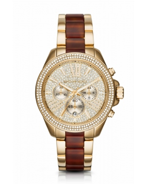 Часы Michael Kors Wren Pave Gold-Tone and Acetate Watch MK6294