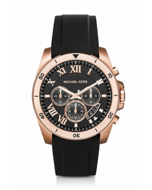 Часы Michael Kors Brecken Gold-Tone and Silicone Watch MK8436
