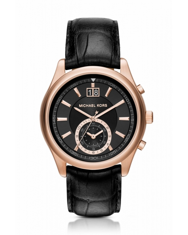 Часы Michael Kors Aiden Rose Gold-Tone And Leather Watch MK8460