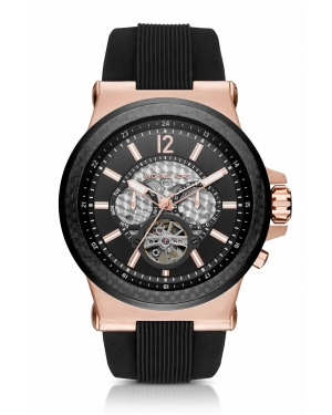 Часы Michael Kors Dylan Automatic Rose Gold-Tone and Silicone Watch MK9019