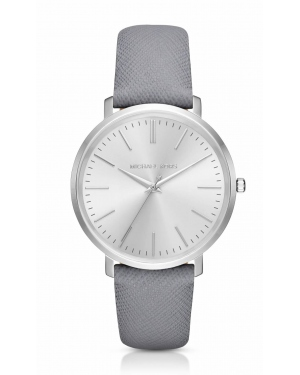 Часы Michael Kors Jaryn Silver-Tone Leather-Band Watch MK2470