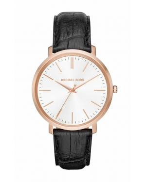 Часы Michael Kors Jaryn Rose Gold-Tone And Embossed-Leather Watch MK2472