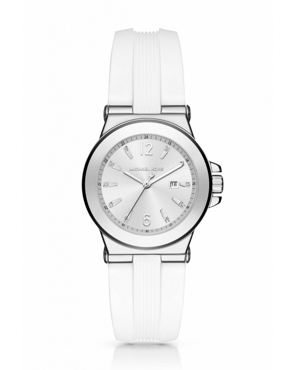 Часы Michael Kors Mini Dylan Silver-Tone And Silicone Watch MK2498