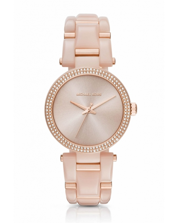 Часы Michael Kors Delray Pave Rose Gold-Tone and Acetate Watch MK4322