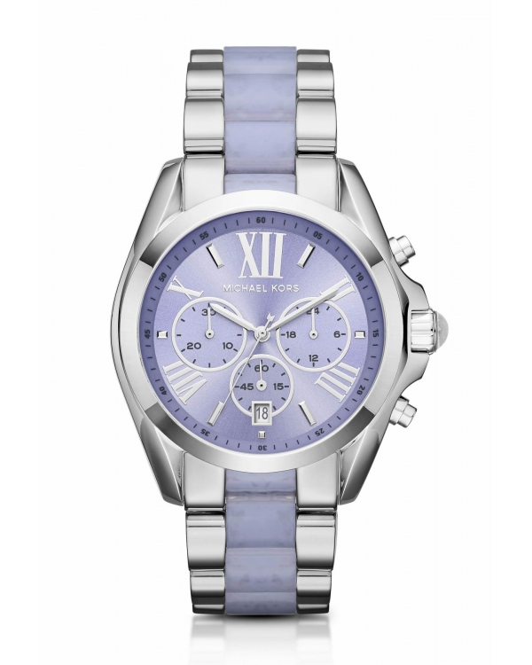Часы Michael Kors Bradshaw Silver-Tone and Acetate Watch MK6331