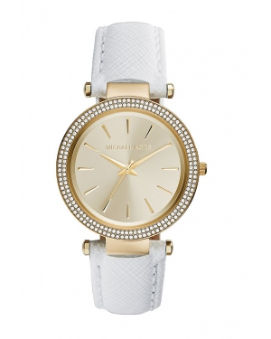 Часы Michael Kors Darci Champange Dial White Leather Watch MK2391