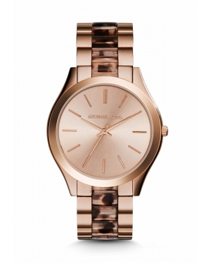 Часы Michael Kors Slim Runway Rose Gold-Tone Acetate Watch MK4301