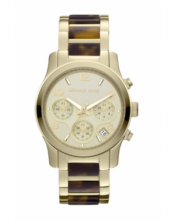 Часы Michael Kors Runway Gold-Tone Tortoise Watch MK5659