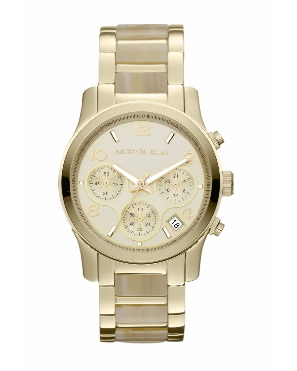 Часы Michael Kors Runway Gold-Tone Horn Acetate Watch MK5660