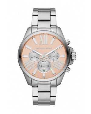 Часы Michael Kors Wren Chronograph Rose Dial Stainless Steel Watch MK5837