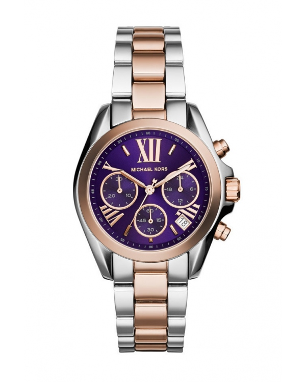 Часы Michael Kors Bradshaw Silver and Rose Gold-Tone Stainless Steel Watch MK6074