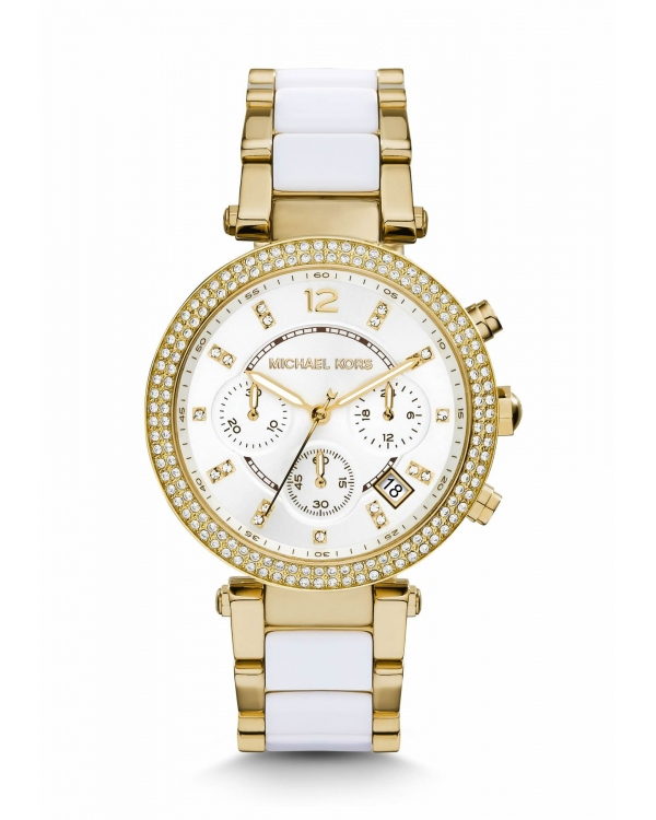 Часы Michael Kors Parker Pave Gold-Tone Acetate Watch MK6119