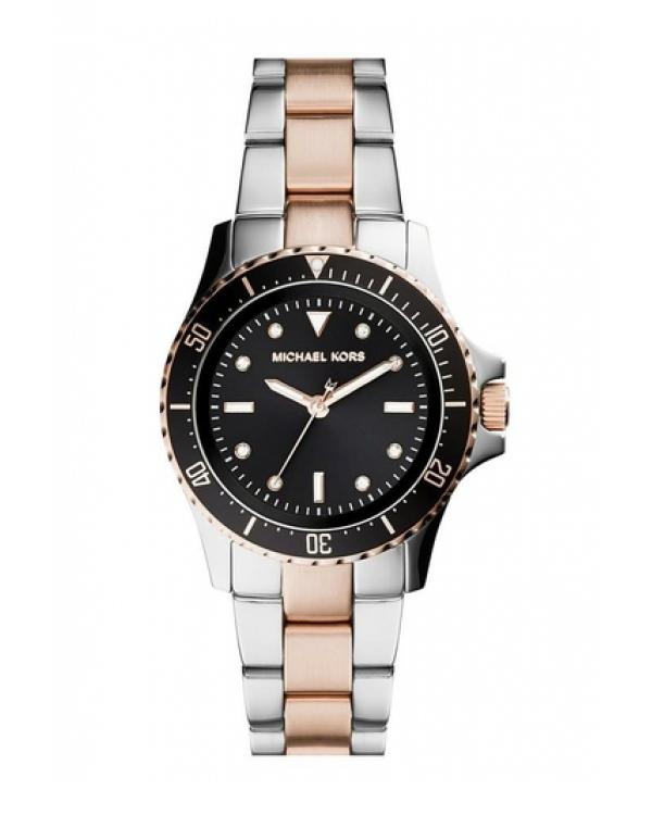 Часы Michael Kors Tatum Black Dial Two-Tone Watch MK6121