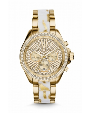 Часы Michael Kors Wren Gold-Tone Zebra Acetate Watch MK6157