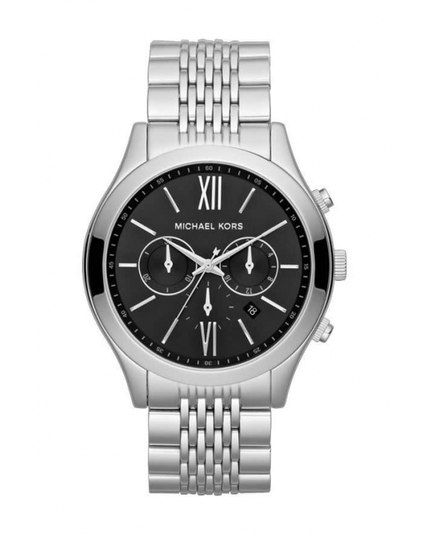 Часы Michael Kors Brookton Silver-Tone Black Dial Chronograph Watch MK8305
