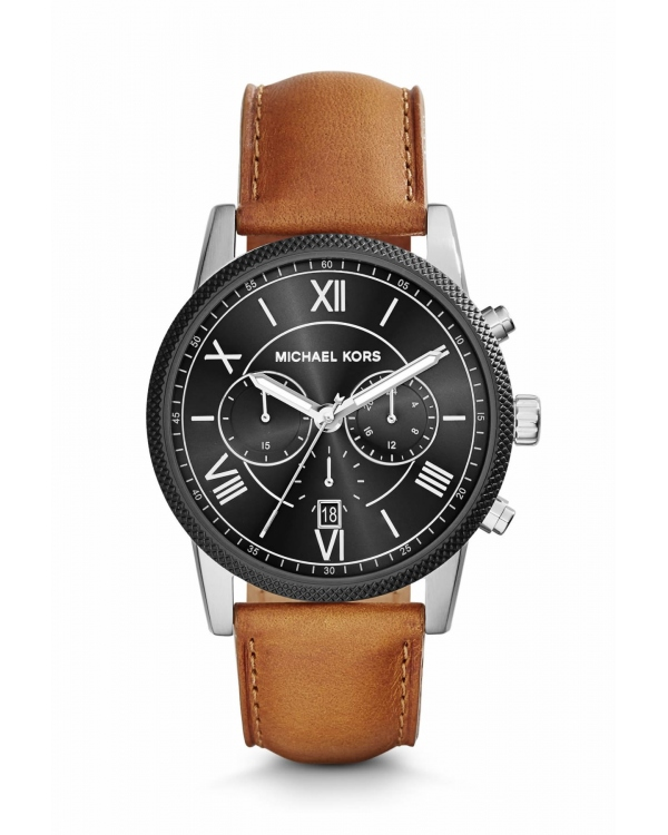 Часы Michael Kors Hawthorne Silver-Tone Leather Watch MK8394