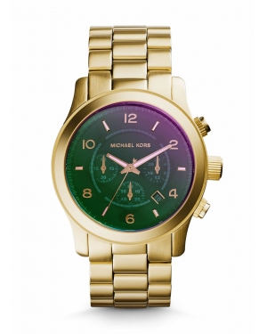 Часы Michael Kors Runway Flash Lens Gold-Tone Watch MK8407