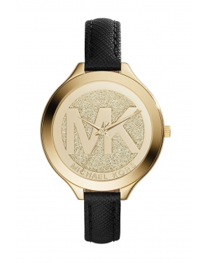 Часы Michael Kors Slim Runway Gold-Tone Leather Watch MK2392