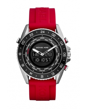 Часы Michael Kors Jetmaster Red Silicone Strap Analog-Digital Watch MK8402