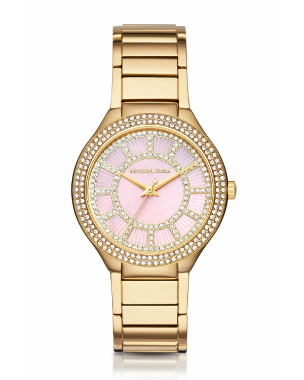 Часы Michael Kors Kerry Zinnia Mother Of Pear Dial Gold-Tone Watch MK3396