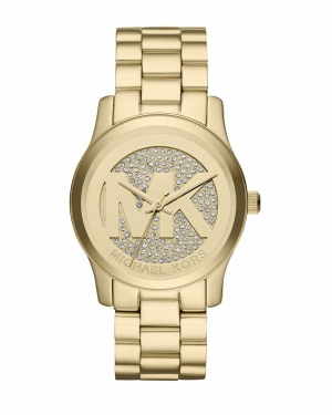 Часы Michael Kors Runway Gold Dial Gold-tone Ladies Watch MK5852