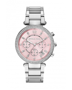Часы Michael Kors Parker Rose Dial Silver-Tone Watch MK6105