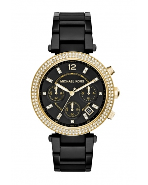 Часы Michael Kors Parker Black Ion-Plated Stainless Steel Watch MK6107